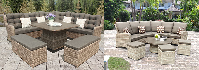 luxury padded garden recliners