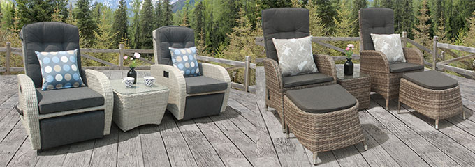 reclining rattan furniture
